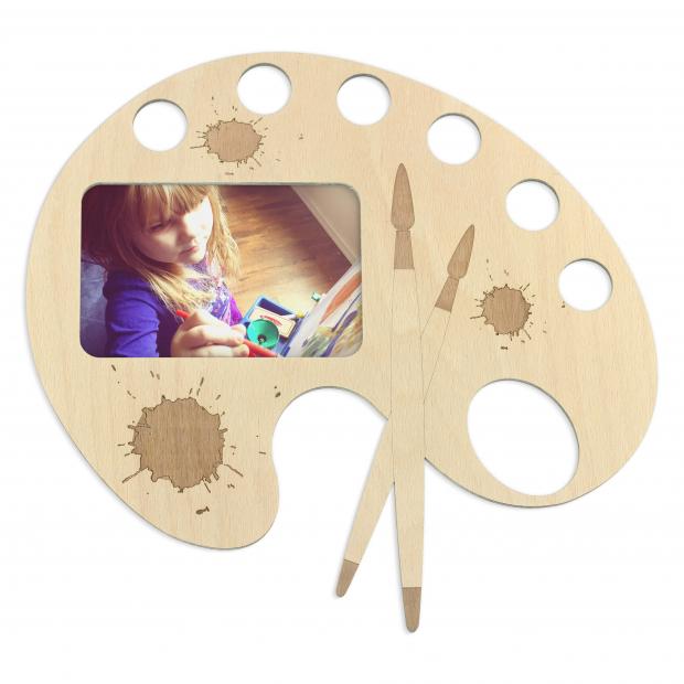 Rámeček alá paleta pro malé tvořivce Malířská paleta jako rámeček na fotky