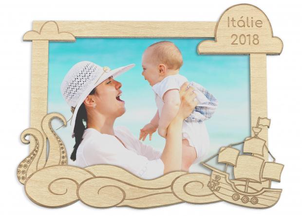 Rámeček z dovolené u moře Dětský rámeček na fotku na památku z dovolené u moře