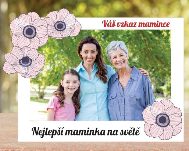 Květinový rámeček pro maminku Květinový rámeček pro maminku