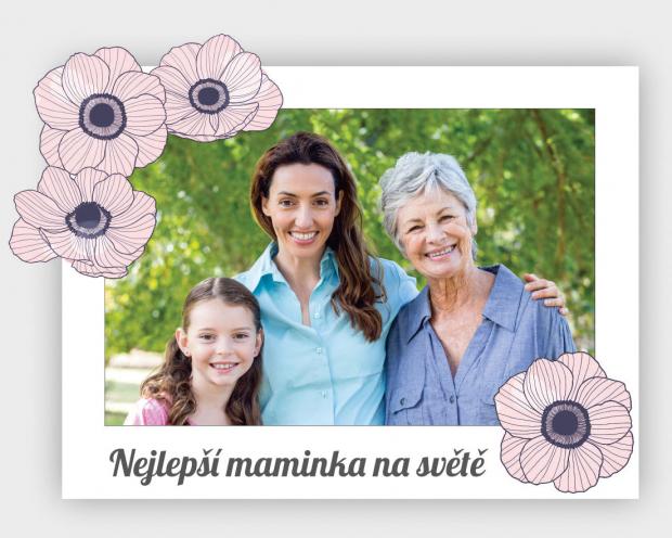 Květinový rámeček pro maminku Květinový fotorámeček jako dárek pro maminku