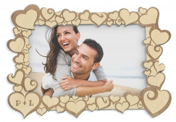 Rámeček se srdíčky pro zamilované Fotorámeček pro zamilované