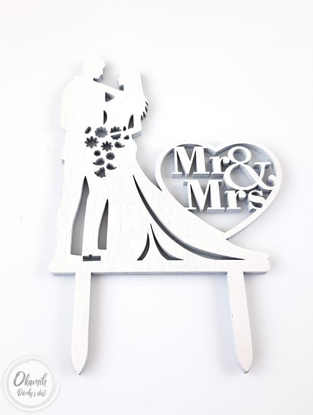 Svatební zápich do dortu Zápich na svatební dort Mr and Mrs