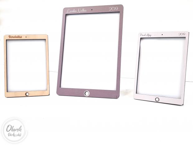 Rámeček ve stylu iPadu s výběrem barev a textu Fotorámeček ve stylu iPadu s výběrem barev a textu