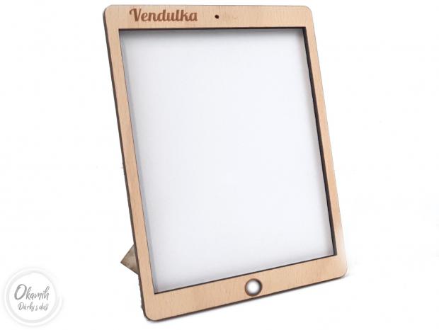 Rámeček ve stylu iPadu s výběrem barev a textu Rámeček ve stylu iPadu s výběrem barev a textu