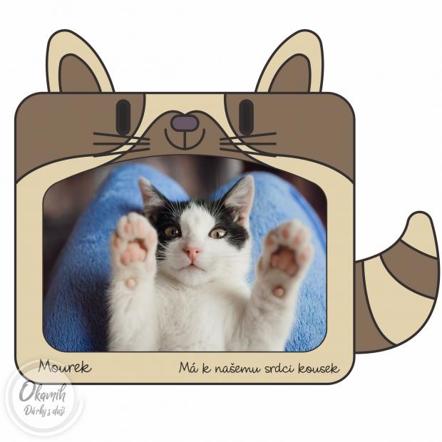 Rámeček s kočičkou do dětského pokojíku Rámeček s kočičkou do dětského pokojíku