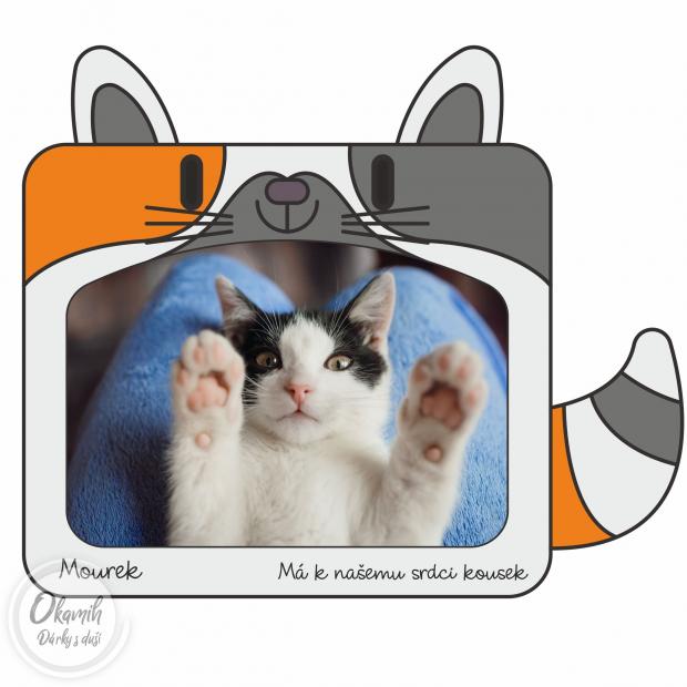 Rámeček s kočičkou do dětského pokojíku Fotorámeček s kočkou do dětského pokojíku