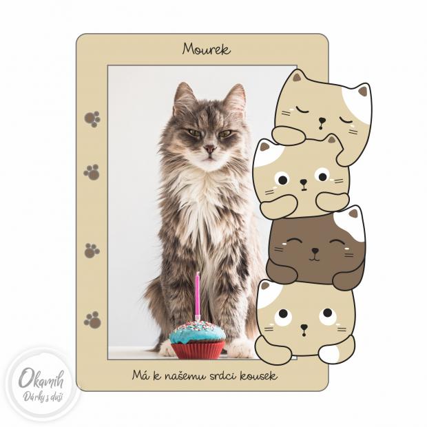 Rámeček s koťátky pro lepší náladu Fotorámeček s koťátky pro lepší náladu