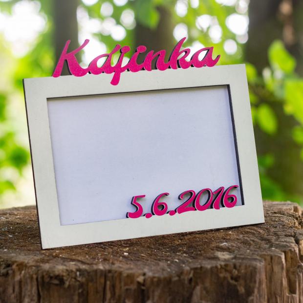 Rámeček k narození miminka se jménem a datem narození Fotorámeček můj první rok
