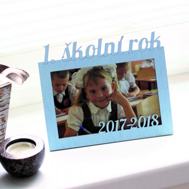 Rámeček pro prvňáčky Dětský rámeček na fotky moje první třída