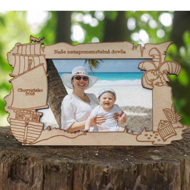 Rámeček s pokladem třeba na památku z dovolené Dětský rámeček na fotku s pokladem