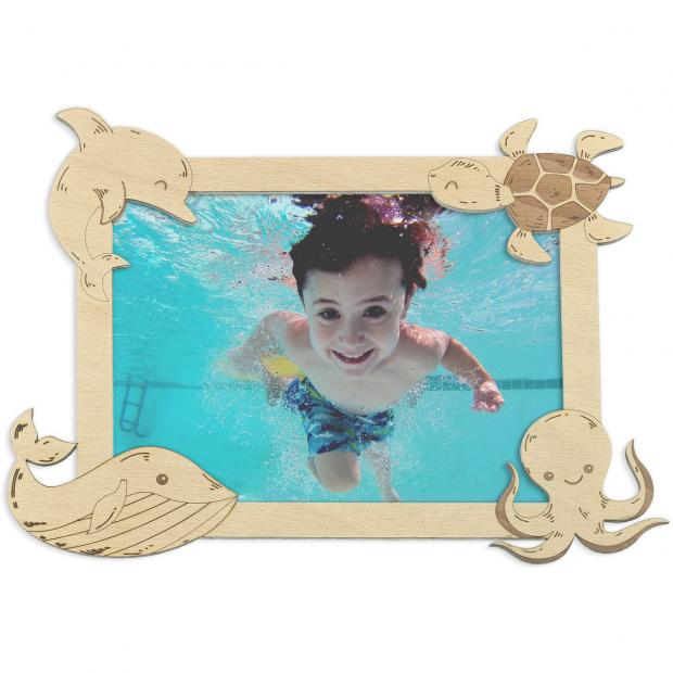 Plaváčkův rámeček Fotorámeček s delfínem, želvou, velrybou a medúzou