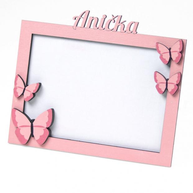 Rámeček se jménem a motýlkama II. Fotorámeček se jménem a motýlkama II.
