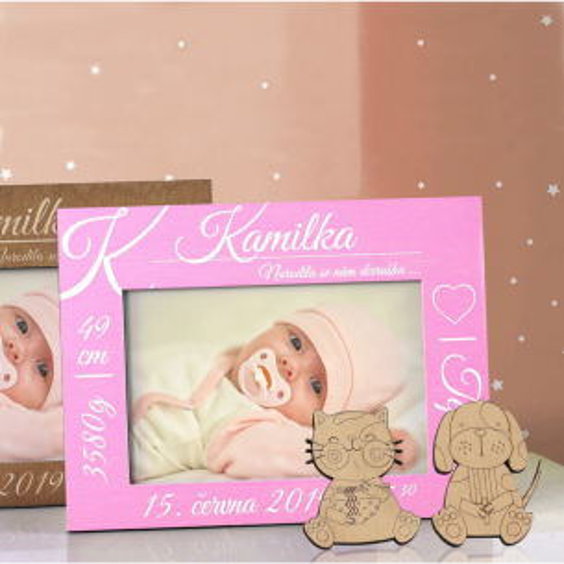 Elegantní rámeček k oslavě narození dítěte Elegantní rámeček k oslavě narození dítěte