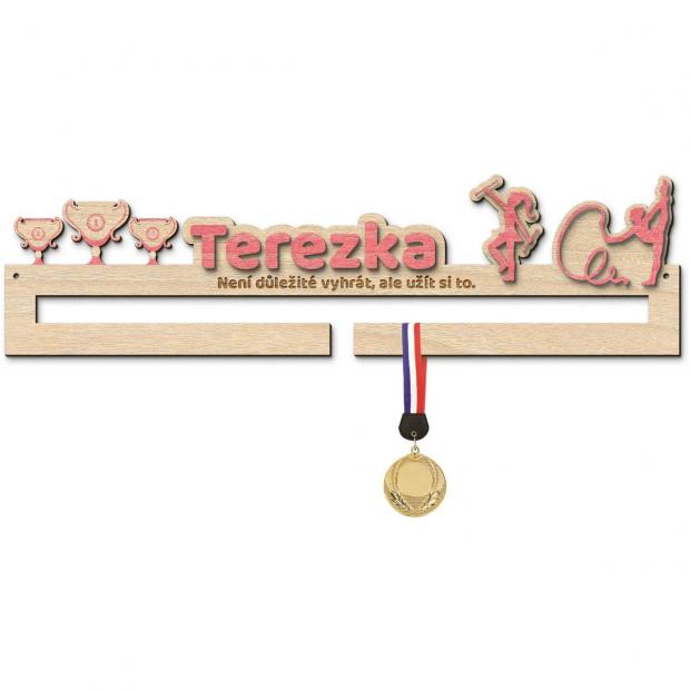 Malý věšák na medaile pro mažoretky Věšák na medaile mažoretky - se jménem, střední