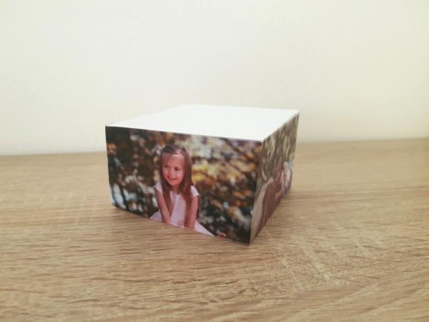 Potisk na poznámkový bloček - fotka s textem Bloček s potiskem Vaší fotografie a textem