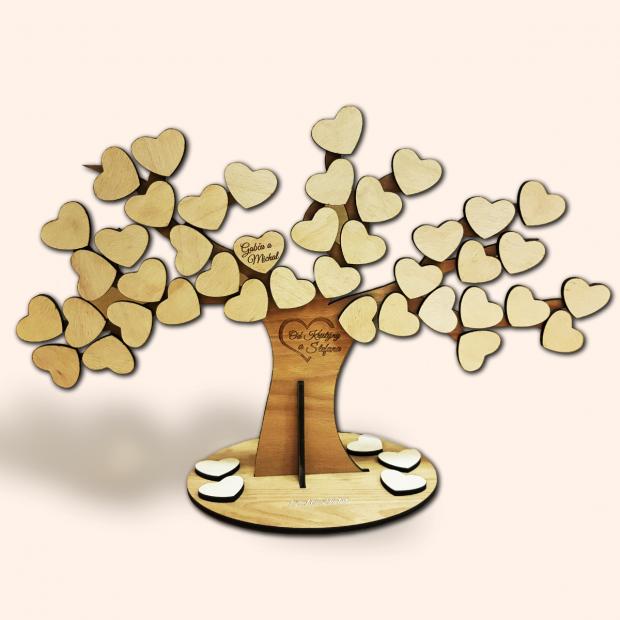 Svatební strom se srdíčky Svatební strom se srdíčky
