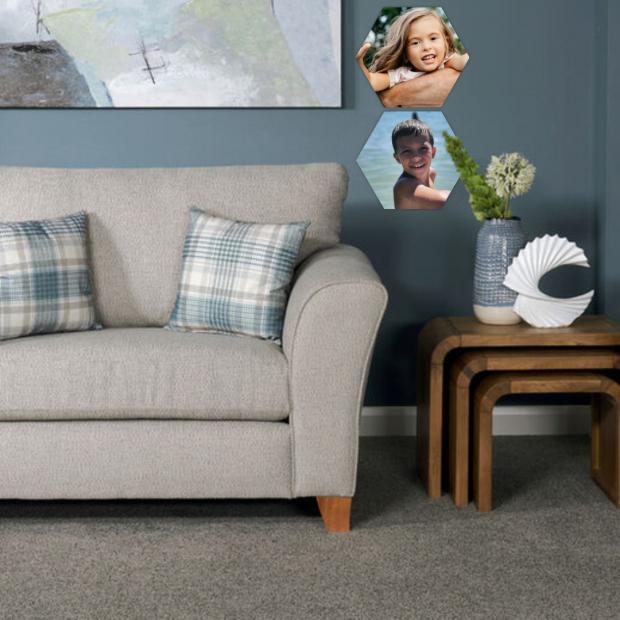 2 dřevěné hexagonky 21x18 cm - foto dekorace s barevným potiskem 2 dřevěné hexagonky - foto dekorace s barevným potiskem